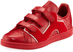 Adidas By Raf Simons Stan Smith Comfort Badge Sneaker, Red
