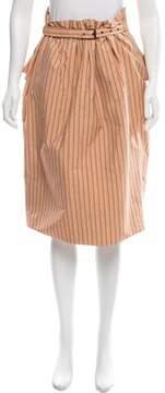 Bottega Veneta Striped Peplum Skirt w/ Tags