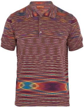 Missoni Striped-cotton polo shirt