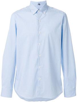 Fay micro check print shirt