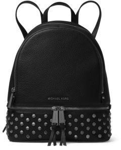 MICHAEL MICHAEL KORS Leather Stud Backpack