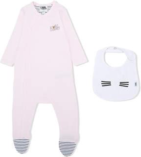 Karl Lagerfeld wrap-over pajamas