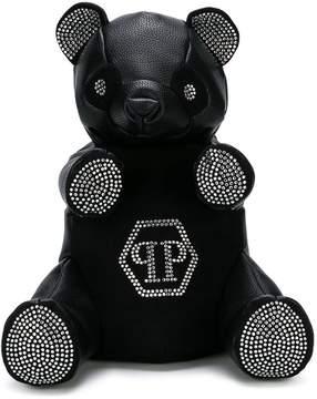 Philipp Plein Junior studded bear backpack