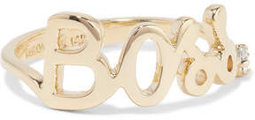 Alison Lou Boss 14-karat Gold Diamond Ring