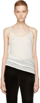 Ann Demeulemeester Ivory Ribbed Camisole
