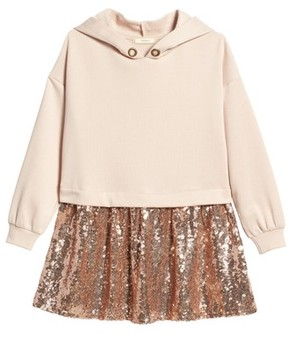 Soprano Girl's Hooded Sequin Dress