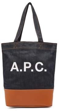 A.P.C. Axel Japanese Denim Tote Bag - Womens - Indigo