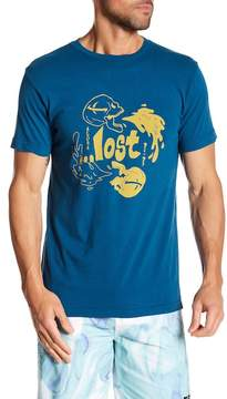 Lost Short Sleeve Front Graphic Print Tee