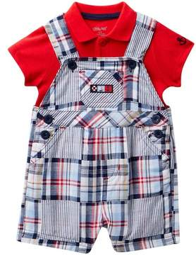 Little Me Patchwork Shortall Set (Baby Boys 12-24M)