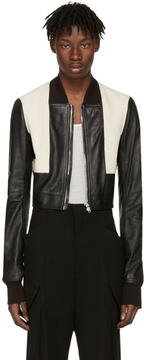 Rick Owens Black Geo Harness Bomber Jacket
