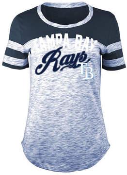 5th & Ocean Women's Tampa Bay Rays Space Dye Cb Yoke T-Shirt