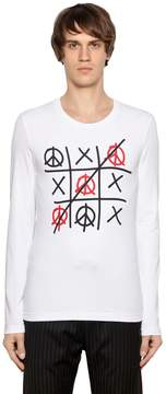 Love Moschino Tic-Tac-Toe Stretch Jersey T-Shirt