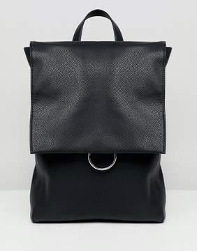 Asos DESIGN ring flap backpack
