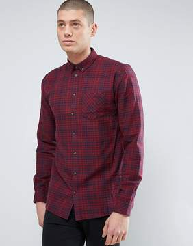 Minimum Thick Textured Flannel Check Shirt