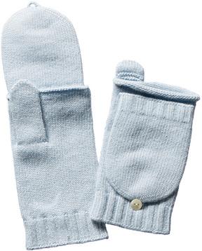 Portolano Women's Blue Wool-Blend Gloves