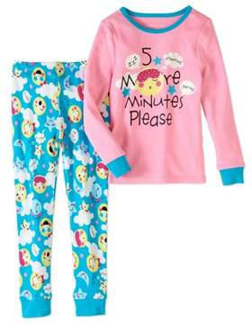 Us Angels Dream Life by Little Girls 2 Piece Tight Fit Pajama Set