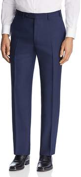 Canali Solid Micro Box Weave Regular Fit Dress Pants