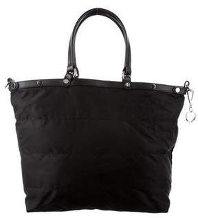 Moncler Leather Trimmed Nylon Satchel