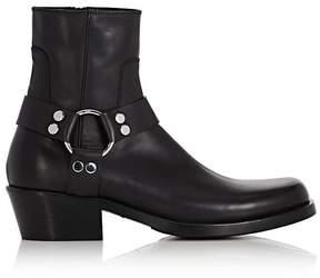 Balenciaga Men's Santiag Leather Harness Boots