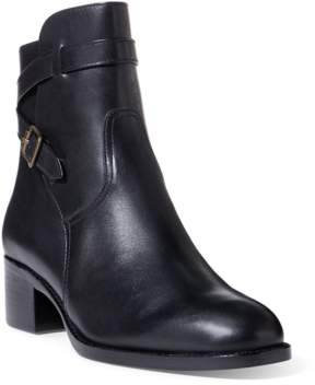 Polo Ralph Lauren | Mollie Leather Ankle Boot | 9.5 us | Black