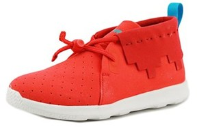 Native Apollo Mid Youth Round Toe Canvas Red Sneakers.