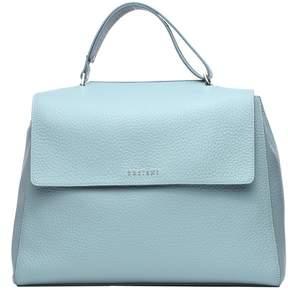 Orciani Light Blue Soft Leather Sveva Bag
