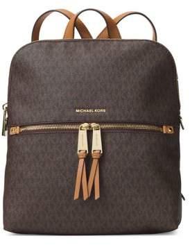 MICHAEL Michael Kors Rhea Zip Slim Logo Backpack