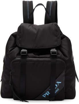 Prada Black Nylon Logo Backpack