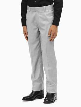 Calvin Klein boys stretch slub straight leg suit pants