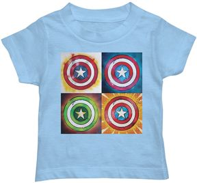 Marvel Toddler Boy Captain America Pop Art Tee