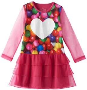 Chloé Girls 4-12 & Olivia Photoreal Gumball Tiered Nightgown