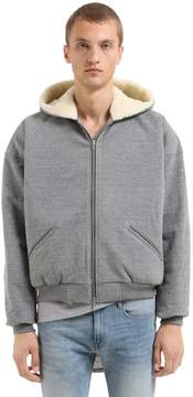 Fear Of God Hooded Zip-Up Sweatshirt W/ Wool Lining