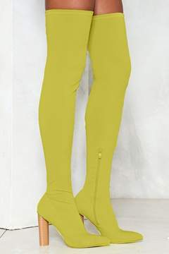 Nasty Gal nastygal Limelight Over-the-Knee Boot