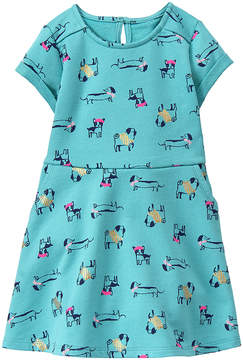 Gymboree Teal Puppy A-Line Dress - Infant, Toddler & Girls