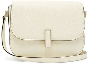 Valextra Iside Cross Body Grained Leather Bag - Womens - White