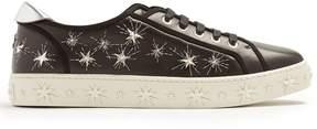 Aquazzura Cosmic Star embellished leather trainers