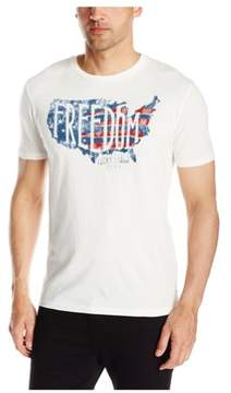 Lucky Brand Mens Freedom Graphic T-Shirt Off-White 2XL