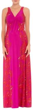 Olian Scarlet Sleeveless Maternity Maxi Dress