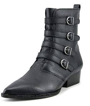 Calvin Klein Jeans Kitty Women Pointed Toe Leather Black Ankle Boot.