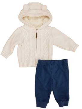 Carter's Infant Boys 2-Piece Cable Knit Hoodie & Pants Set