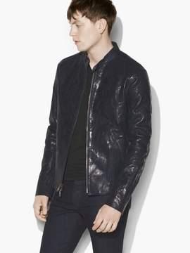 John Varvatos Indigo Leather Jacket