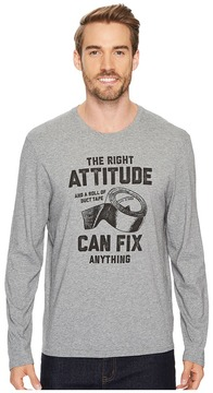 Life is Good Attitude Fix Long Sleeve Smooth Tee Men's Long Sleeve Pullover