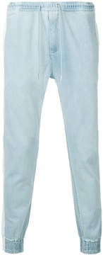 Monkey Time Tapered Tie-Waist Denim Trousers