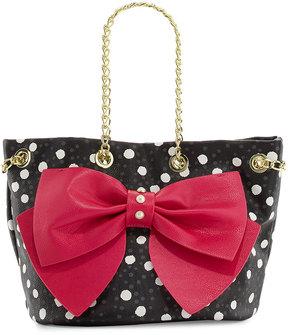 Betsey Johnson Still Hopelessly Romantic Bucket Bag, Fuchsia