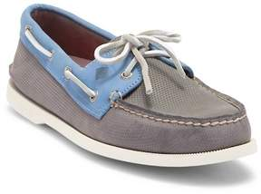 Sperry A/O 2-Eye Perforated Grey/Blue Loafer