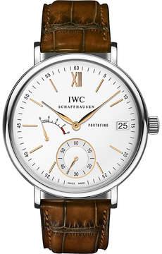 IWC IW510103 portofino leather watch