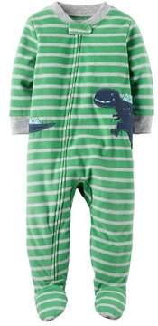 Carter's Baby Boys' 12M-24M One Piece Dinosaur Fleece PJs
