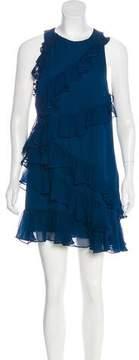 Cinq à Sept Silk Ruffled Dress