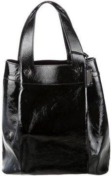 Oscar de la Renta Textured Patent Leather Tote