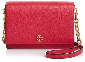 Tory Burch Georgia Pebbled Combo Crossbody - BRIGHT PINK/GOLD - STYLE